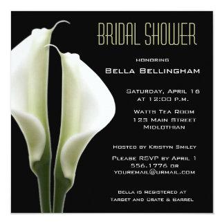 """Calla Lillies Bridal Shower Invitation 5.25"""" Square Invitation Card"""