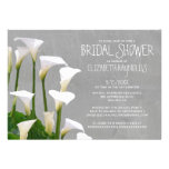 Calla Lillies Bridal Shower Invitations Announcements