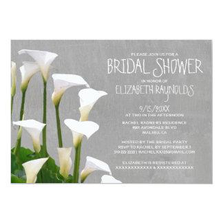 Calla Lillies Bridal Shower Invitations