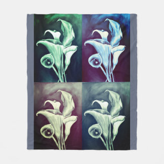 Calla Lillies Fleece Blanket