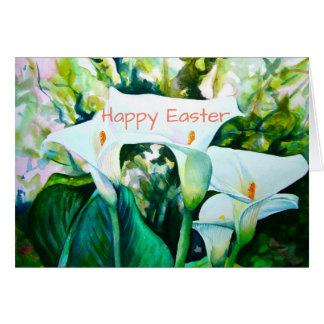 "Calla Lillies Happy Easter 5"" X 7"" card"