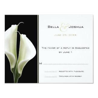Calla Lillies RSVP 11 Cm X 14 Cm Invitation Card