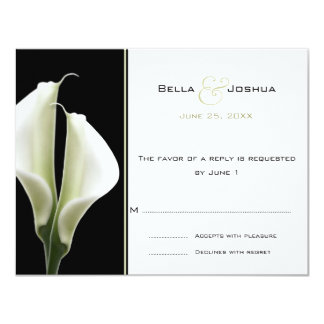 Calla Lillies RSVP Card