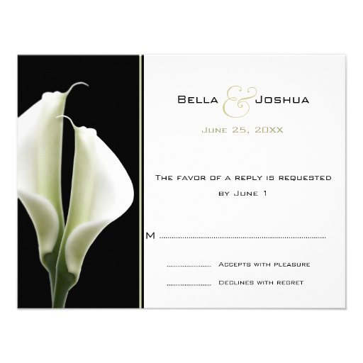 Calla Lillies RSVP Custom Invitation