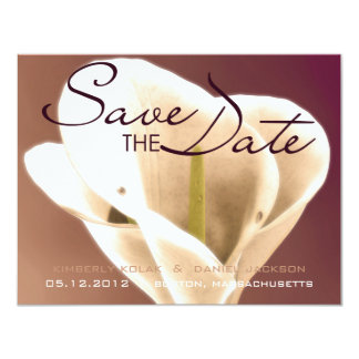 Calla Lillies • Save the Date Card