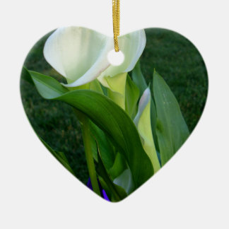 Calla Lillies (white) Ceramic Heart Decoration