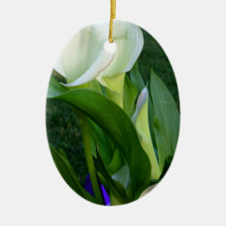 Calla Lillies (white) Ceramic Oval Decoration