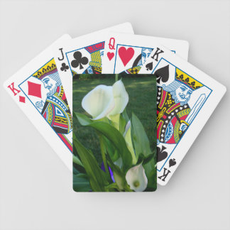 Calla Lillies (white) Poker Deck