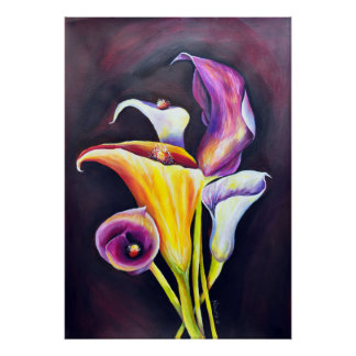 Calla Lilly- Bohemian  Painting Poster