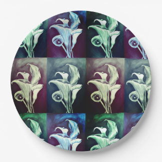Calla Lilly- Bohemian Pattern 9 Inch Paper Plate