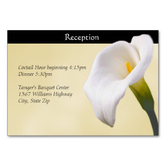 Calla Lilly on Gold Reception Card