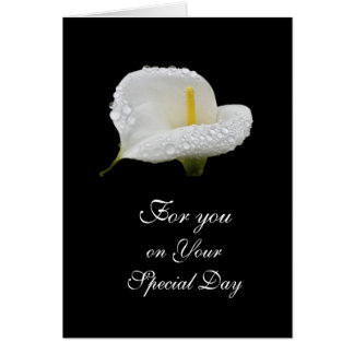Calla Lilly: Special Day Greeting Card