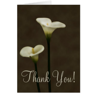 Calla Lilly Thank You Card