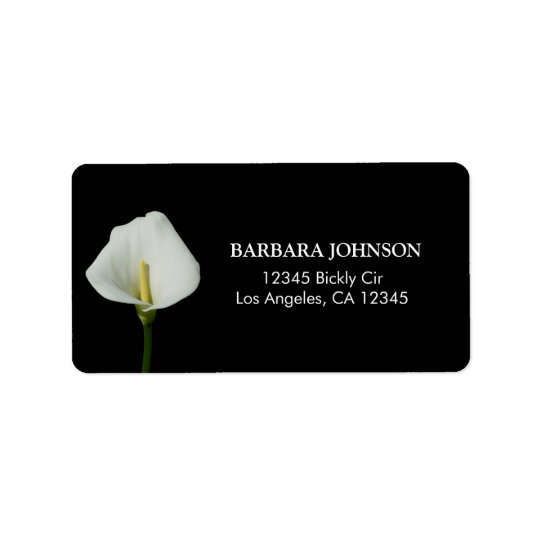Calla Lily Address Label