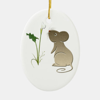 Calla lily and mouse Ornament