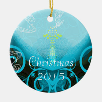 Calla Lily Aqua Christmas Ornament
