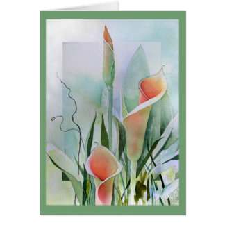 Calla Lily Blank Notecards Note Card