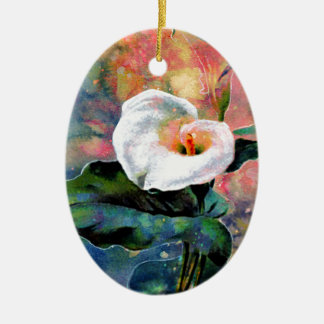 CALLA LILY CERAMIC OVAL DECORATION