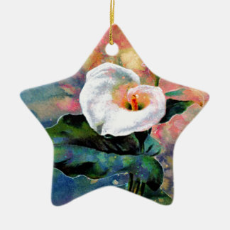CALLA LILY CERAMIC STAR DECORATION