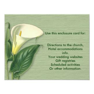 Calla Lily Enclosure Card 11 Cm X 14 Cm Invitation Card