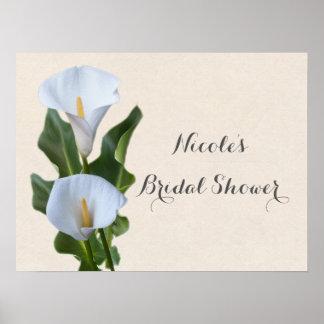 Calla Lily Flowers Floral Elegant Bridal Wedding Poster