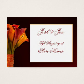 Calla lily gift registry wedding card