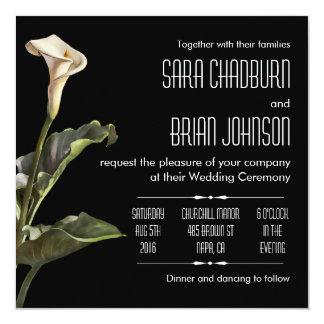 Calla Lily Modern Floral 13 Cm X 13 Cm Square Invitation Card