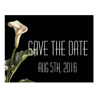Calla Lily Modern Floral Save The Date Postcard