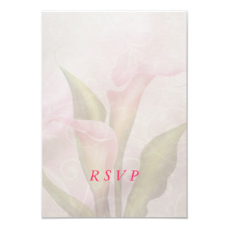 Calla Lily Pink RSVP Card 9 Cm X 13 Cm Invitation Card