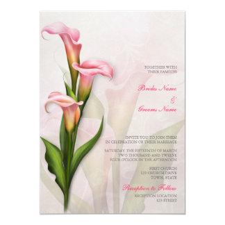 Calla Lily Pink Wedding Invitation Personalized Invite