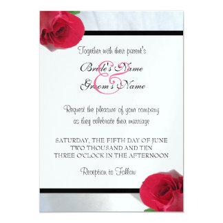 Calla Lily/Rose Wedding Invitation