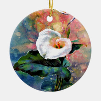 CALLA LILY ROUND CERAMIC DECORATION