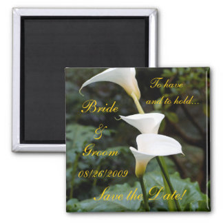 Calla Lily Save the Date! Magnet