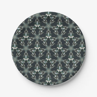 Calla Lily Star Kaleidoscope Paper Plate