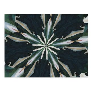 Calla Lily Star Kaleidoscope Postcard