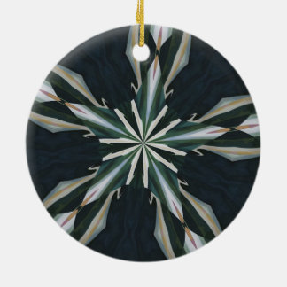 Calla Lily Star Kaleidoscope Round Ceramic Decoration