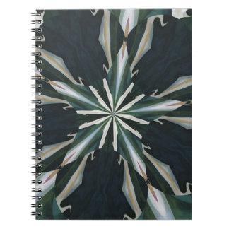 Calla Lily Star Kaleidoscope Spiral Notebook