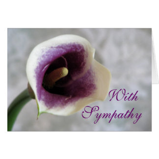 Calla Lily Sympathy Greeting Card