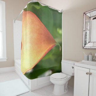 Calla Lily Tear Drop 71x71 Shower Curtain
