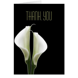 Calla Lily Thank You Note Cards