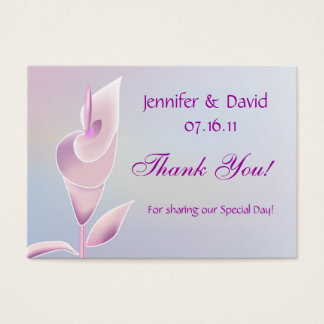 Calla Lily Wedding Gift Tag/Business Card