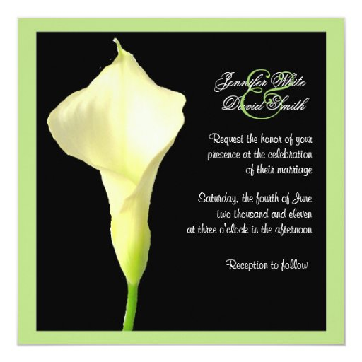Calla Lily Wedding Invitations 001 - Calla Lily Wedding Invitations