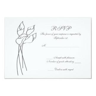Calla Lily wedding rsvp 9 Cm X 13 Cm Invitation Card