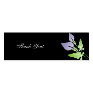 Calla Lily  Wedding Thank You Cards Business Cards