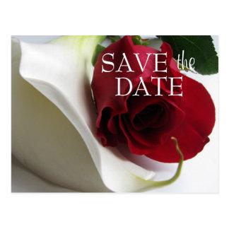 Calla/Rose Save the Date Postcard