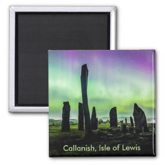 Callanish and Aurora Square Fridge Magnet