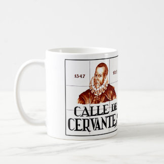 Calle de Cervantes, Madrid Street Sign Coffee Mug