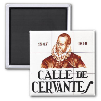 Calle de Cervantes, Madrid Street Sign Magnet