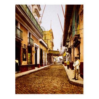 Calle de Habana Havana Cuba Postcard