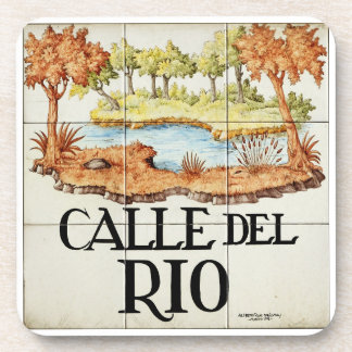Calle del Rio street sign from Madrid Coaster